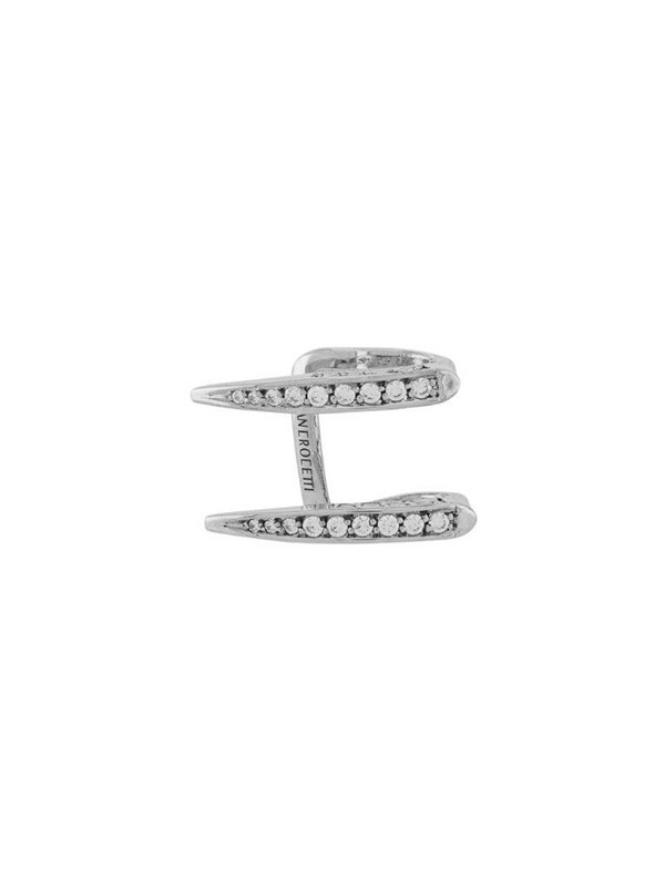 Alan Crocetti crystal-encrusted ear cuff in silver
