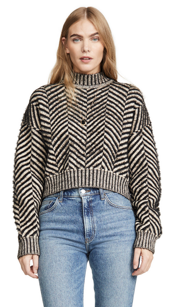 C/Meo Collective Stuck On You Sweater in black / cream