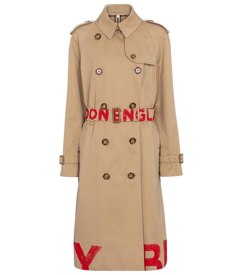 Burberry Waterloo cotton trench coat in beige
