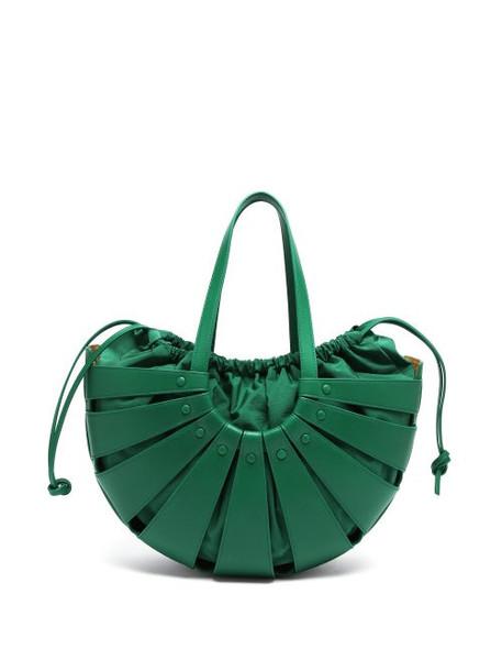 Bottega Veneta - Leather Basket Bag - Womens - Green