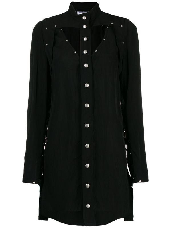 Courrèges studded mini dress in black
