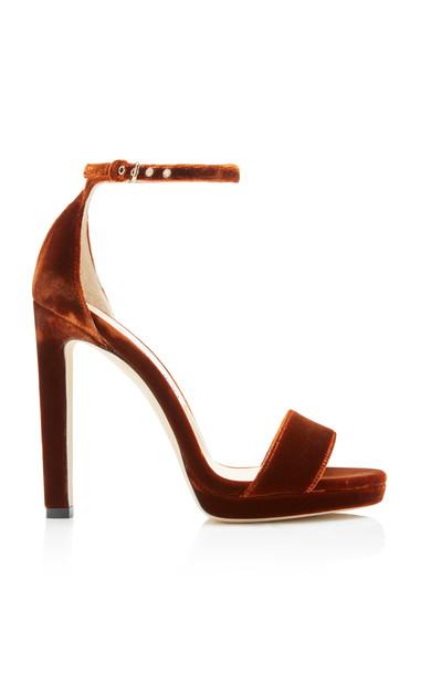 Jimmy Choo Misty Velvet Sandals Size: 35