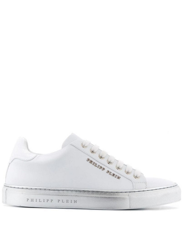 Philipp Plein Statement low top sneakers in white