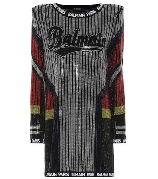 Balmain Embellished minidress in black