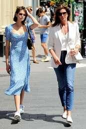 dress,midi dress,slit dress,kaia gerber,model off-duty,spring outfits,spring dress
