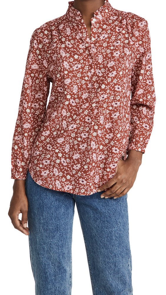 Birds of Paradis Sara Henley Shirt in rose