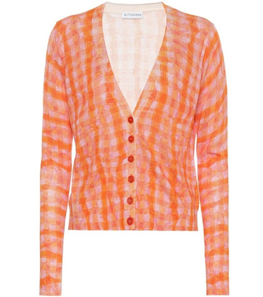 Altuzarra Natalia silk and cotton cardigan in orange