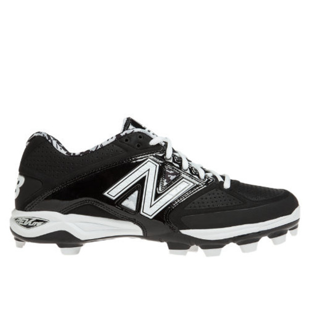 New Balance Low-Cut 4040v2 TPU Molded Cleat Men's Low-Cut Cleats Shoes - Black, White, Grey (P4040LK2)