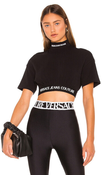 Versace Jeans Couture Short Sleeve Top in Black
