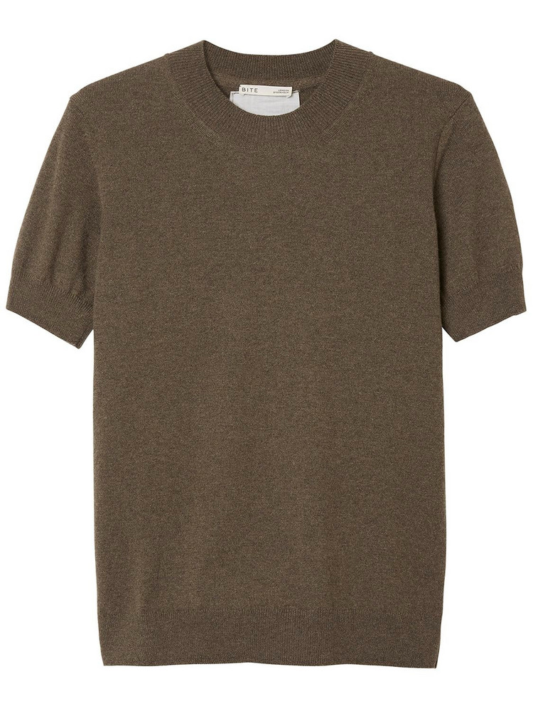 BITE STUDIO Recycled Cashmere T-shirt in brown