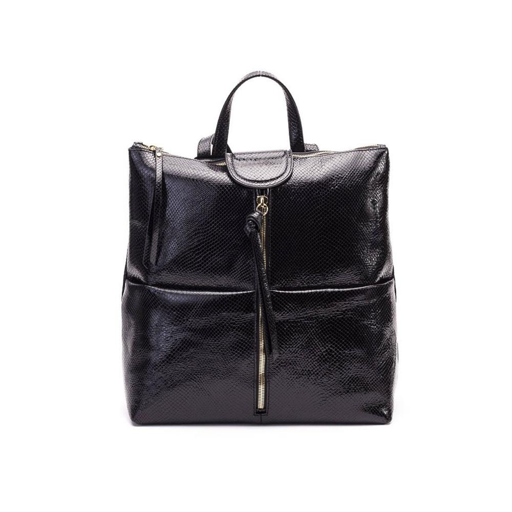 Gianni Chiarini Golx Leather Backpack in black