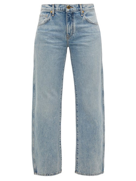 Khaite - Kerrie Loose-fit Jeans - Womens - Light Denim