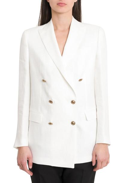 Tagliatore Jasmine Double-breasted Blazer in bianco