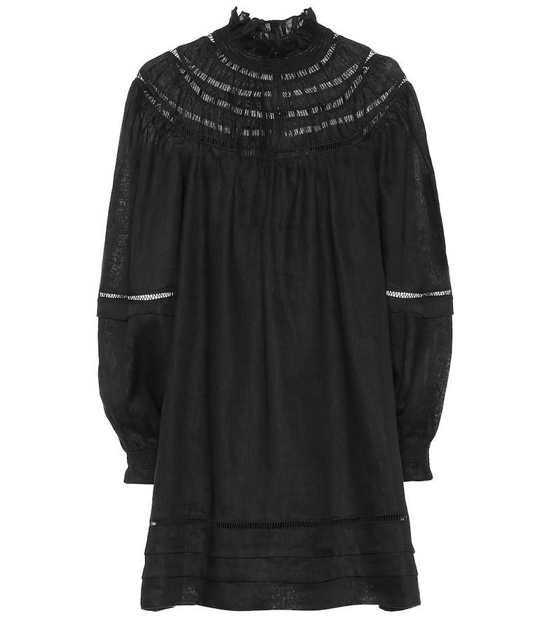Isabel Marant, Étoile Adenia linen minidress in black