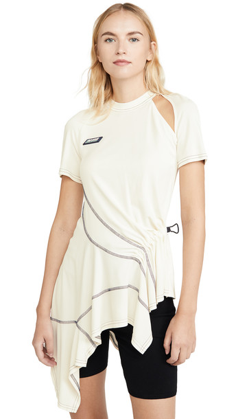 Monse Deconstructed Cycling Top in ivory