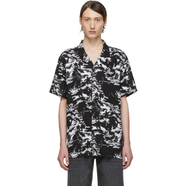 Levi's Black & White Halftone Palm Short Sleeve Shirt