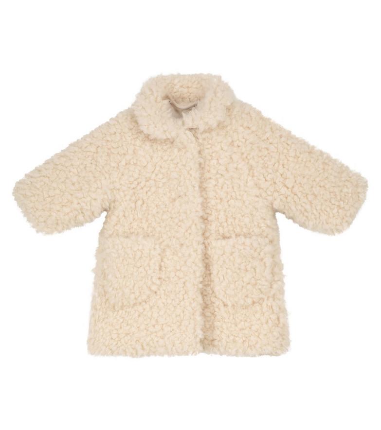 Il Gufo Faux shearling coat in white