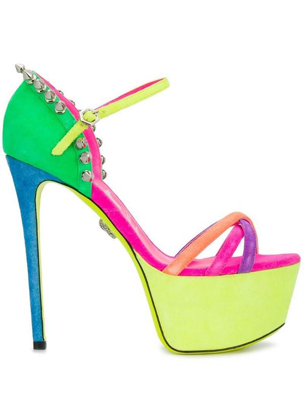 Philipp Plein colour-block platform sandals