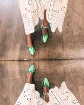 shoes,green shoes