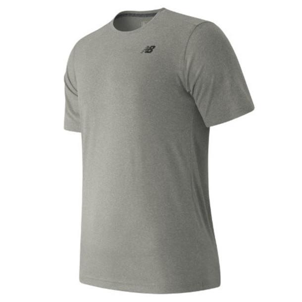 New Balance 53081 Men's Short Sleeve Heather Tech Tee - Grey (MT53081AG)