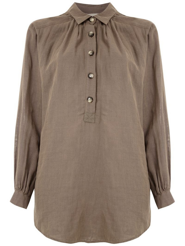 Framed Mumbai loose shirt in grey