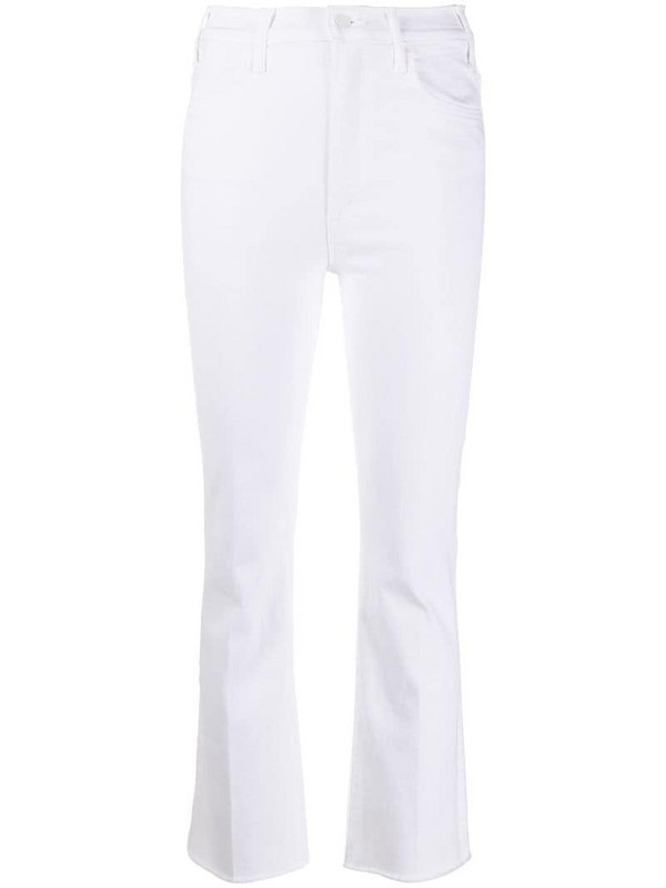 Mother The Hustler frayed jeans in white