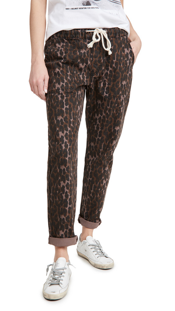 One Teaspoon Shabbies Drawstring Jeans in leopard