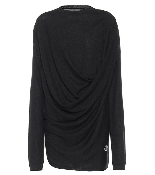 Rick Owens x Moncler cashmere sweater in black