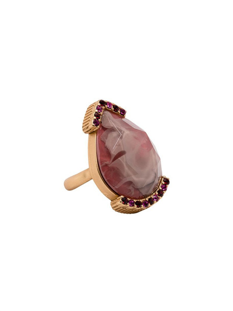 Ports 1961 Drop Stone ring in gold
