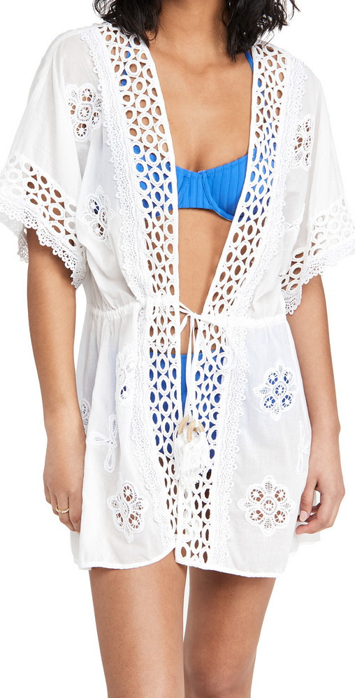 Ramy Brook Delphine Cover Up in white