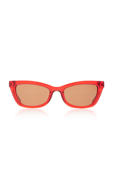 Kate Young Katia Square Sunglasses in red