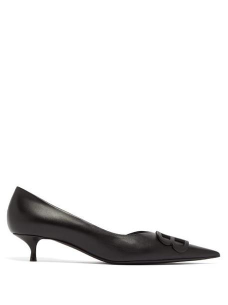 Balenciaga - Bb D'orsay Leather Pumps - Womens - Black