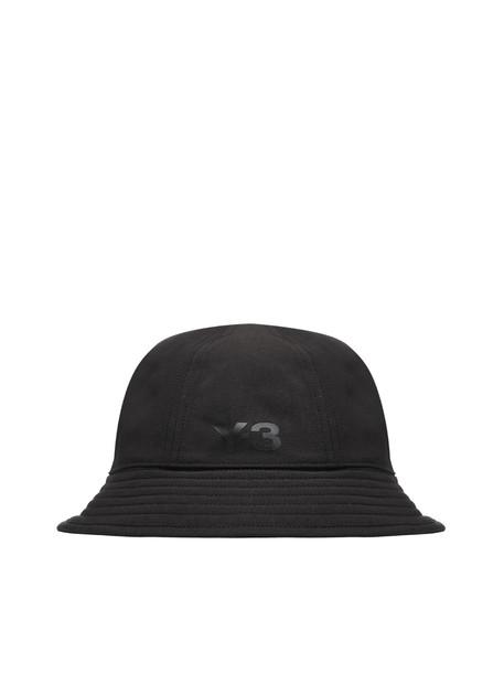 Y-3 Logo Bucket Hat in nero