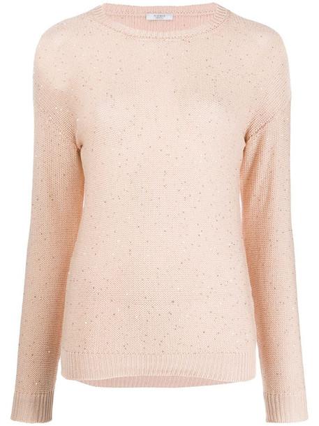 Peserico fine knit jumper in neutrals