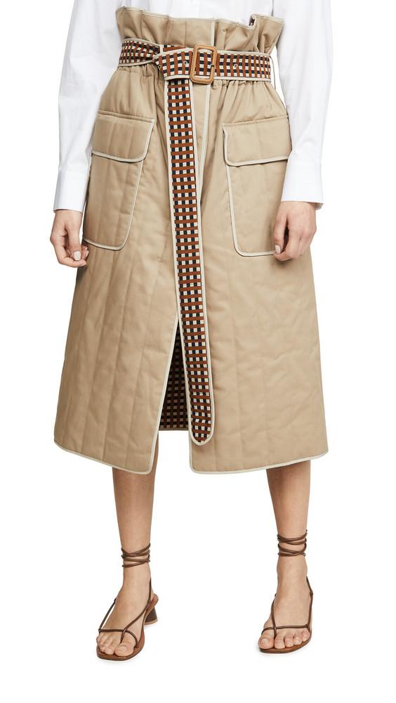 Preen By Thornton Bregazzi Halliden Skirt in camel