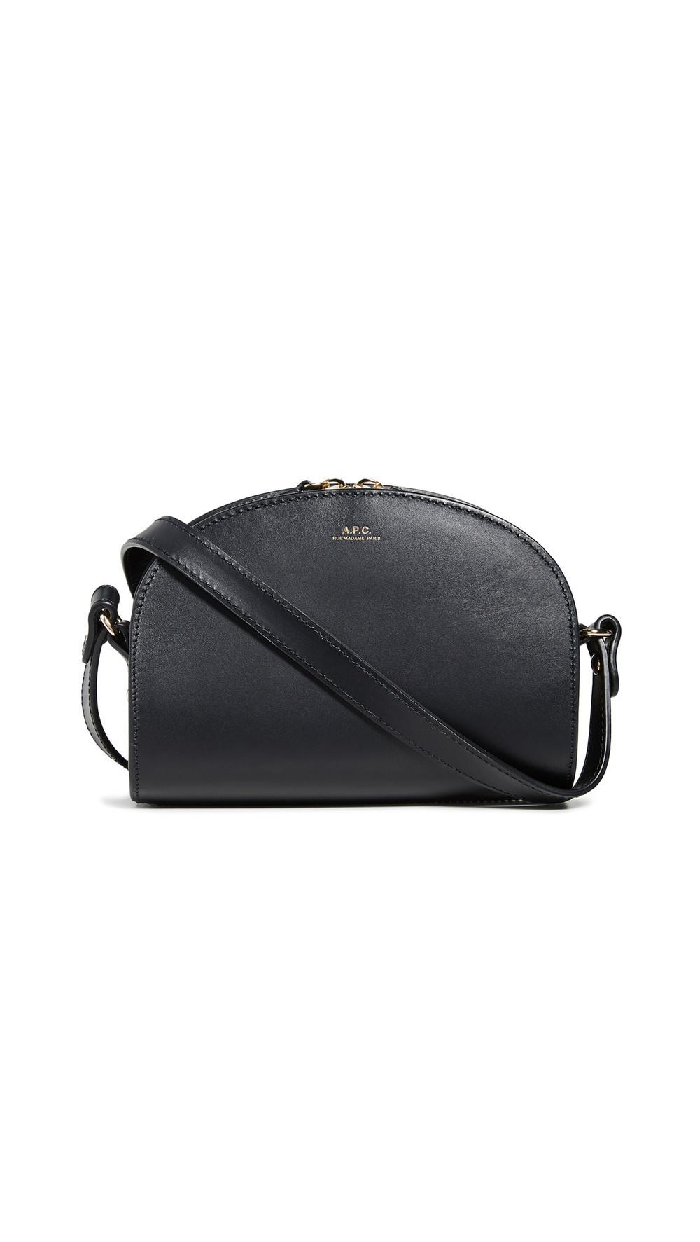 A.P.C. A.P.C. Demi Lune Mini Bag in noir