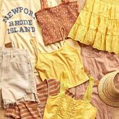 top,skirt,sweater,shorts