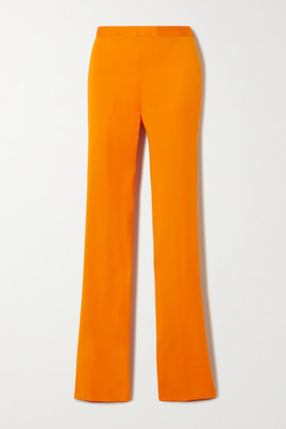Versace - Cady Bootcut Pants - Orange