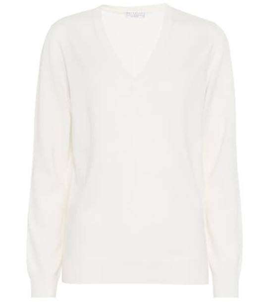 Brunello Cucinelli Cashmere sweater in white
