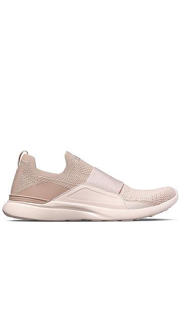APL: Athletic Propulsion Labs Techloom Bliss Sneaker in Pink in rose