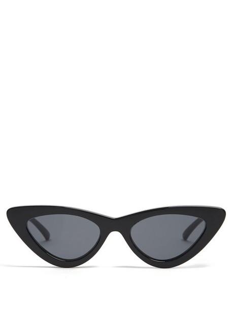 Le Specs - The Last Lolita Cat Eye Sunglasses - Womens - Black