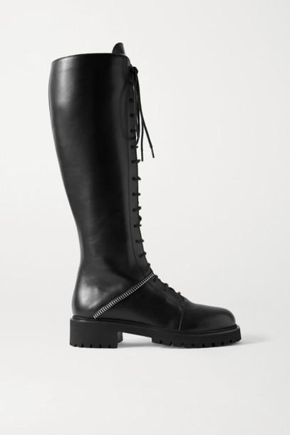 Giuseppe Zanotti - Nevada Leather Knee Boots - Black