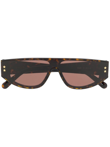 Stella McCartney Eyewear tortoiseshell square frame sunglasses in brown