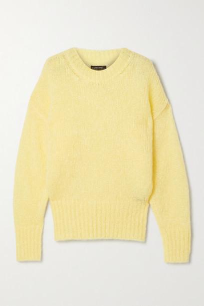 Isabel Marant - Estelle Mohair-blend Sweater - Pastel yellow