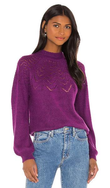 BB Dakota World Wide Web Sweater in Purple in magenta