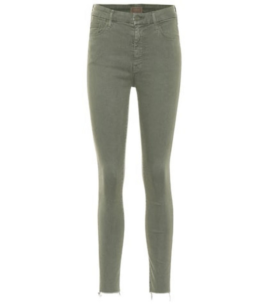 Mother Looker high-rise skinny jeans in green