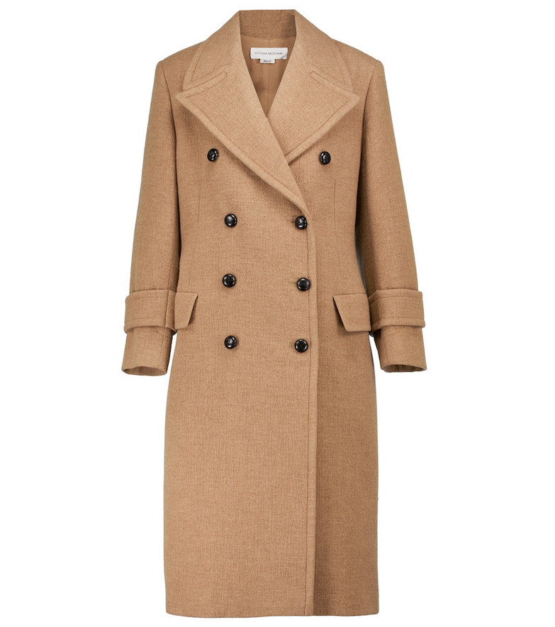 Victoria Beckham Virgin wool and cashmere coat in beige