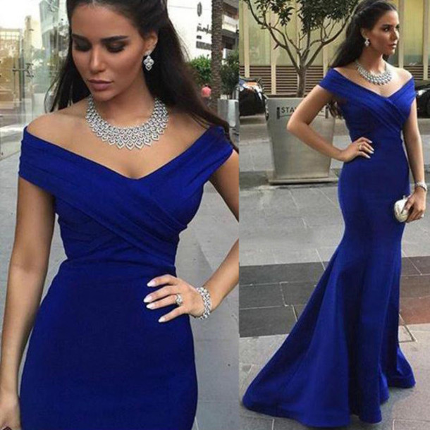 dress prom prom dress special occasion dress blue royal blue royal blue dress blue dress maxi maxi dress long long dress love pretty bridesmaid princess dress mermaid prom dress mermaid fashion style vogue wow fashionista cool gorgeous amazing cute cute dress trendy girly