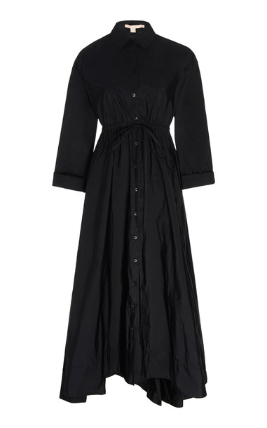 Brock Collection Button-Up Midi Dress Size: 2 in black