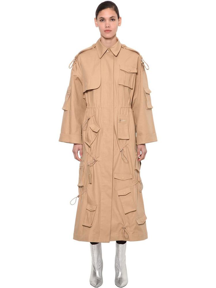 ANNAKIKI Huawei Long Windbreaker Trench Coat in beige